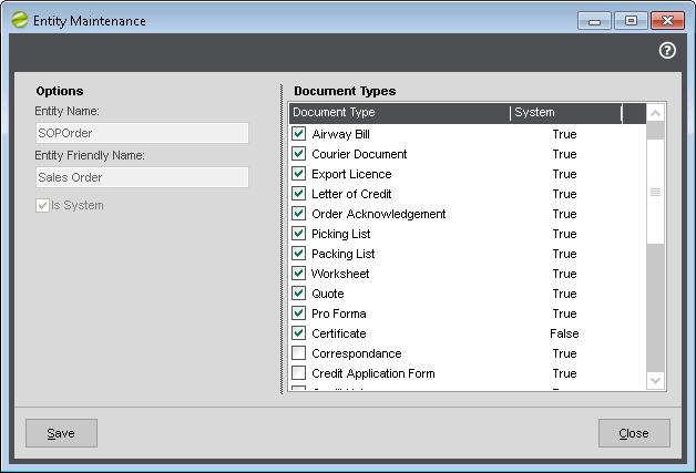 DMS Custom Document Types on Entities