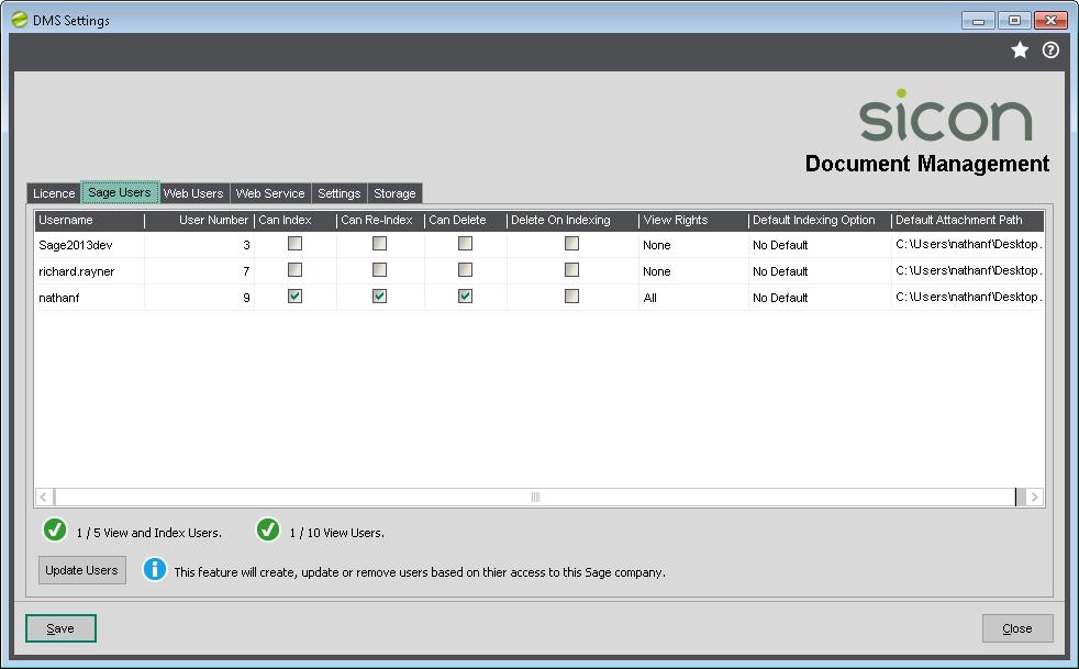 DMS Settings ReIndex Documents