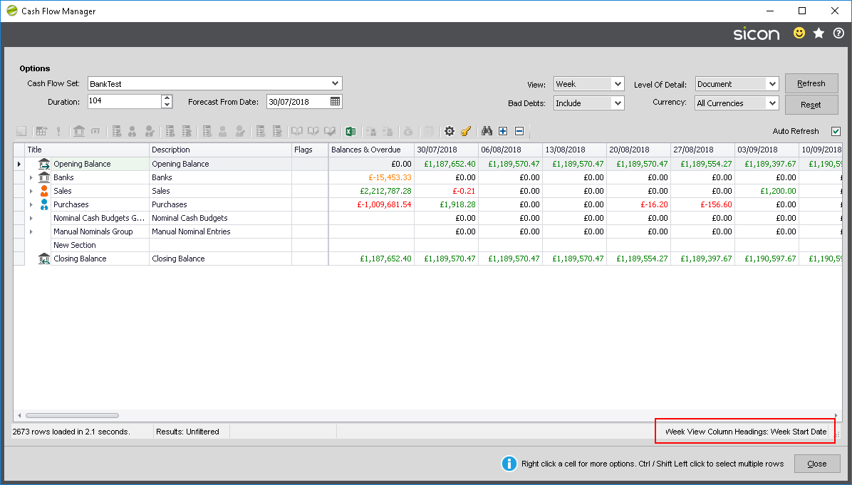 Cash Flow Manager Sicon Release Notes